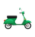 transport of isolated green scooter vector image