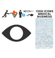 blind eye icon with 1300 medical business icons vector image
