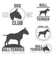 design logotypes labels set of bill terrier god vector image