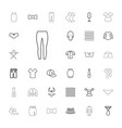 33 textile icons vector image vector image