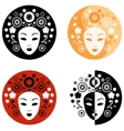 Abstract face on the circle vector image