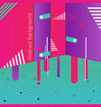 abstract of night party background in geometric vector image