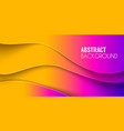 abstract waved background fluid shapes vector image vector image