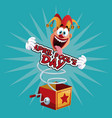 april fools day fun jester box surprise vector image vector image