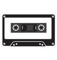 audio tape cassette record tape cassette icon on vector image vector image