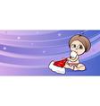 baby girl santa greeting card cartoon vector image vector image