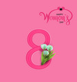 banner flyer tulip mothers day gift symbol vector image