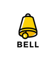bell logo icon vector image vector image