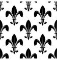 Black and white seamles fleur de lys pattern vector image vector image