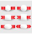 blank ribbons label design set vector image