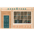 bookstore facade isolated architecture vector image