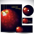 christmas business designs vector image vector image