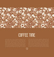coffee concept with thin line icons vector image vector image