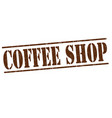 coffee shop stamp vector image vector image