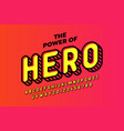 Comics hero style font design alphabet letters