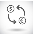Currency exchange single flat icon vector image