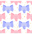 cute cartoon elephant seamless childish pattern vector image
