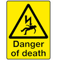 danger of death vector image