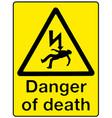 danger of death vector image vector image