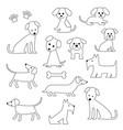 dog digital stamps vector image