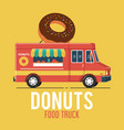 donuts food truck vector image vector image