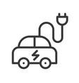 electric car icon green energy concept vector image