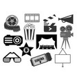 elements in black and white for design vector image vector image