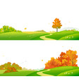 fall landscape banners vector image vector image