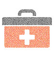 first aid toolbox collage of dots vector image