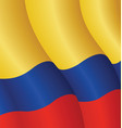 flag colombia vector image vector image