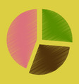 flat shading style icon pie chart infographics vector image vector image