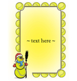 Frame with tennis ball and snowman vector image vector image