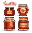 grapefruit jam in glass jars vector image vector image