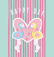 happy day colorful card vector image