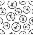 hourglass time icon seamless pattern background vector image vector image