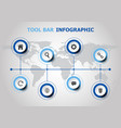 infographic design with tool bar icons vector image vector image