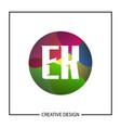 initial letter ek logo template design vector image