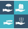 insurance services related icons image vector image