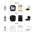 isolated object of dreams and night sign set of vector image vector image