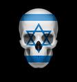 israeli flag skull vector image vector image