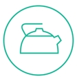 Kettle line icon vector image vector image