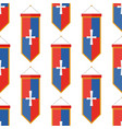 knights flags medieval weapons heraldic knightly vector image