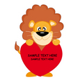 lion with a heart vector image vector image