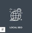 local seo line icon vector image vector image