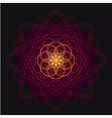 luxurious geometric purple lotus flower on a dark vector image