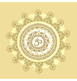 Mandala om Round Ornament Pattern Vintage vector image vector image