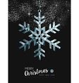 Merry christmasr silver snow greeting card design vector image