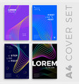 minimal covers design colorful future patterns vector image