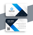 modern corporate blue business card template vector image vector image