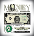 money 1 One Fade BG vector image vector image